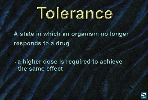Drug detox and tolerance